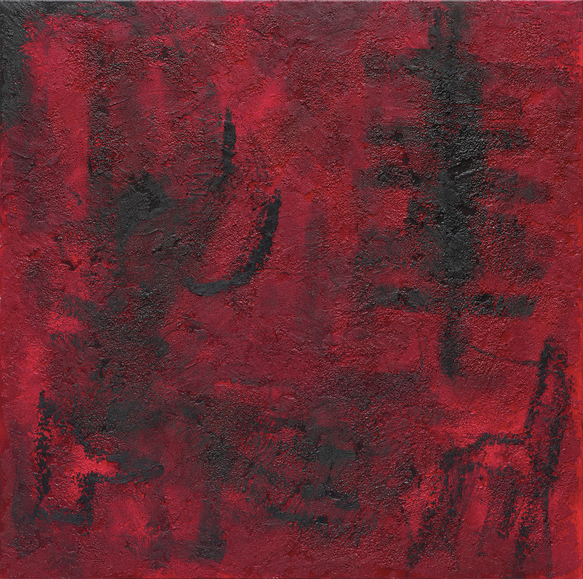 """""""Scar"""" / 2020 / 34inx35in / mixed media on canvas"""