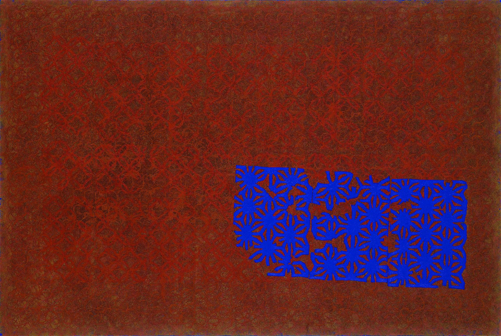 """""""푸른 종이꽃이 있는 풍경 2"""" / 2008 / 130x194cm, Oil on Canvas"""