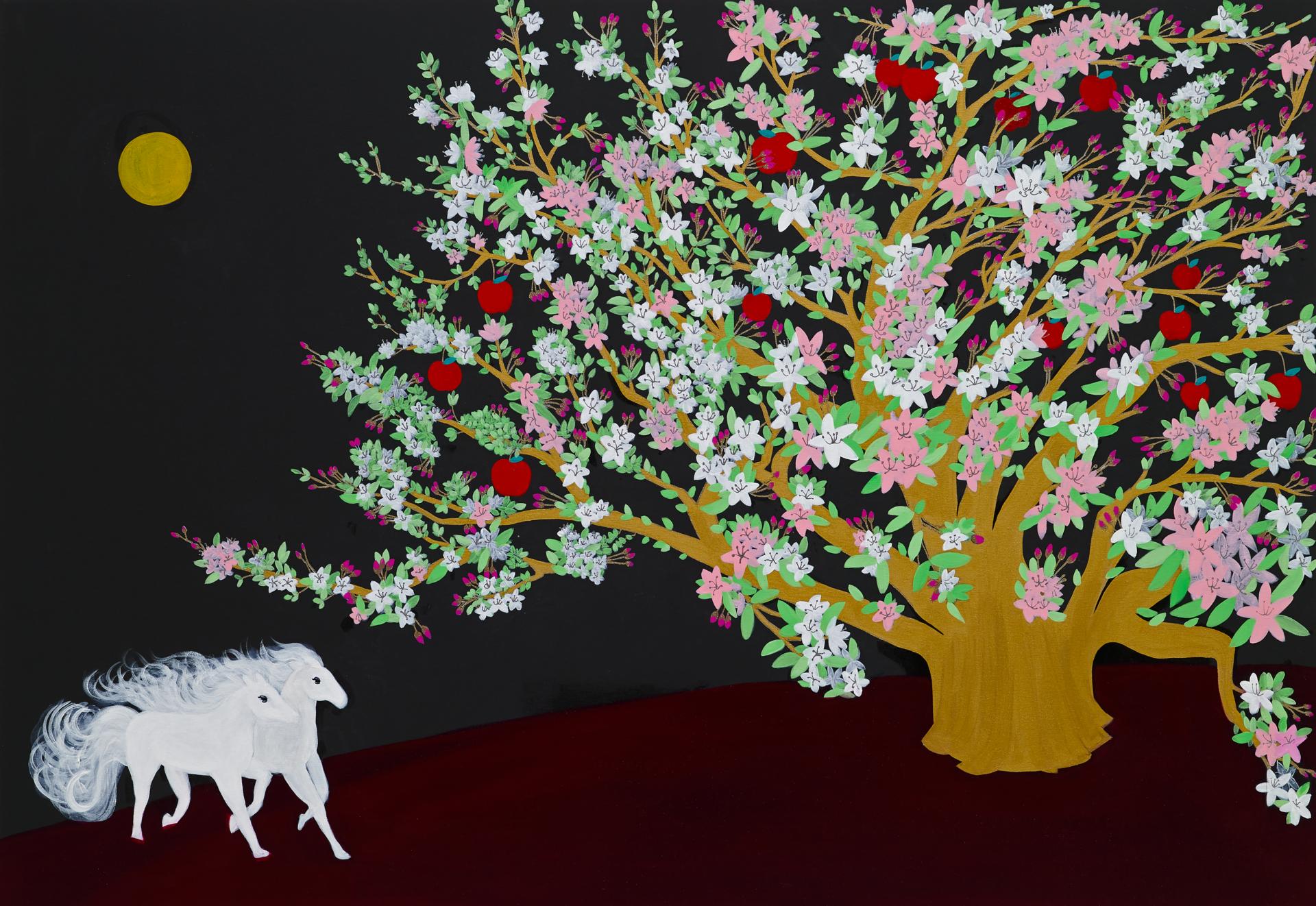 """""""복낙원"""" / acrylic on canvas / 162 X 112(cm)"""