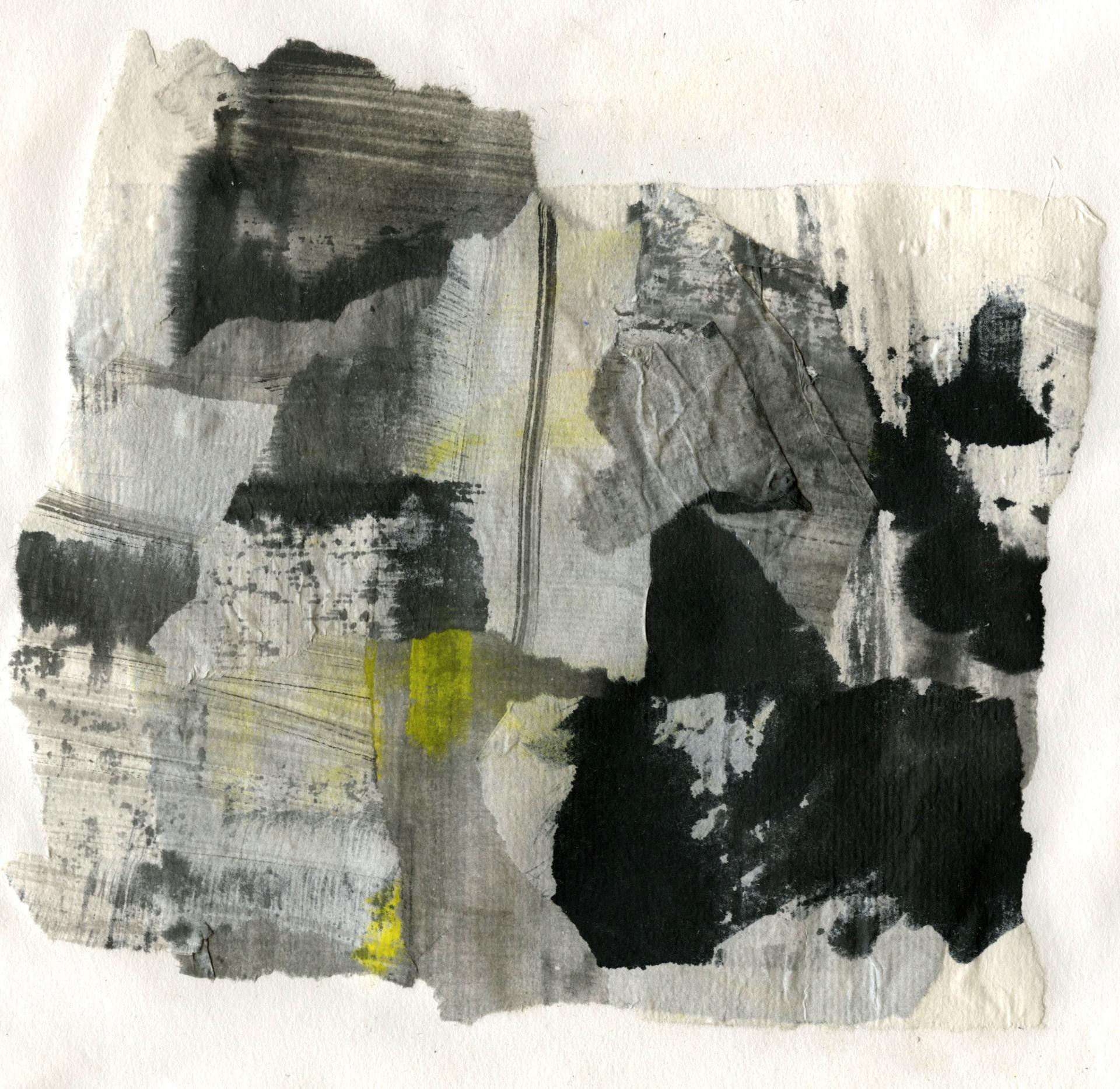 """Yellow bridge series II"" / 2013 / Ink on paper"