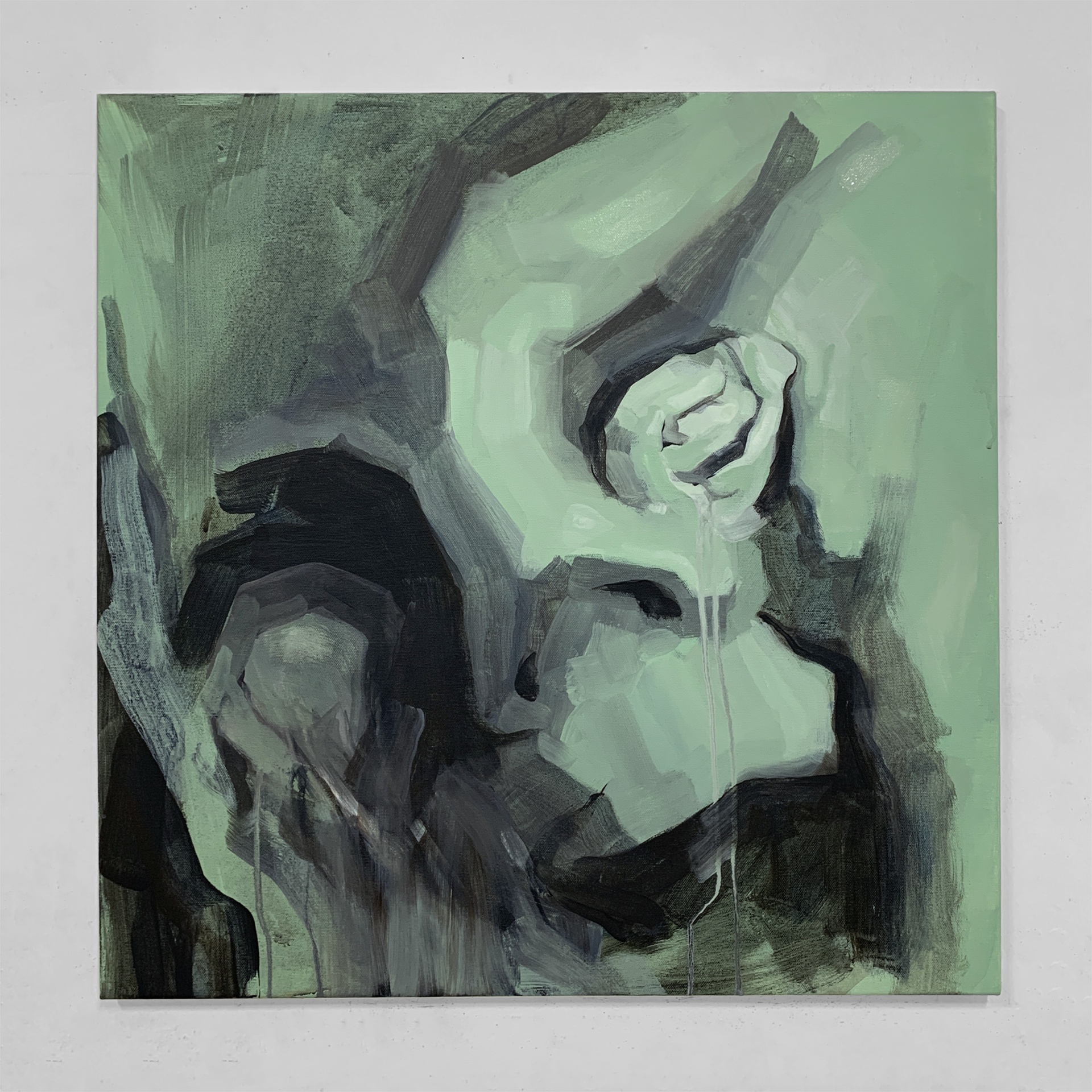 """""""Neglected Part of Me"""" / 73x73cm / Acrylic on canvas / 2020"""