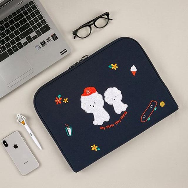 비숑 노트북/패드 파우치