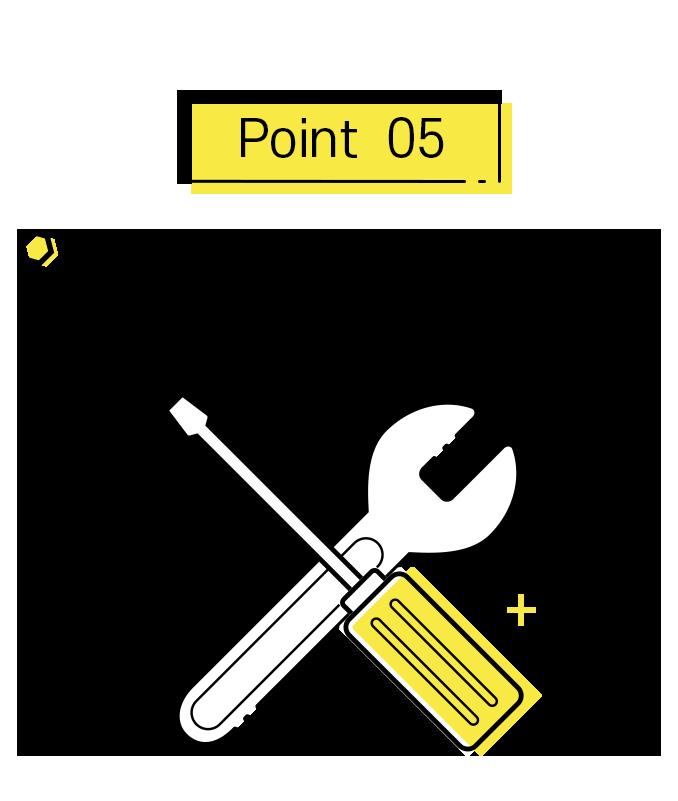 포인트5. 확실한 A/S 제공