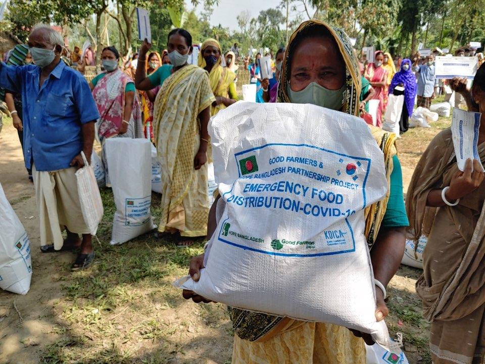 여성 농가를 위한 긴급구호 KIT 전달