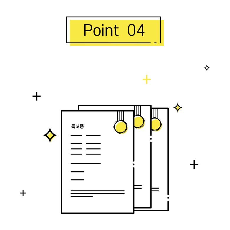 포인트4, 배터리 관련 다수의 특허 보유