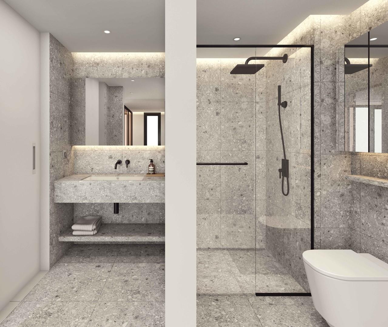 호텔식 분리형 화장실