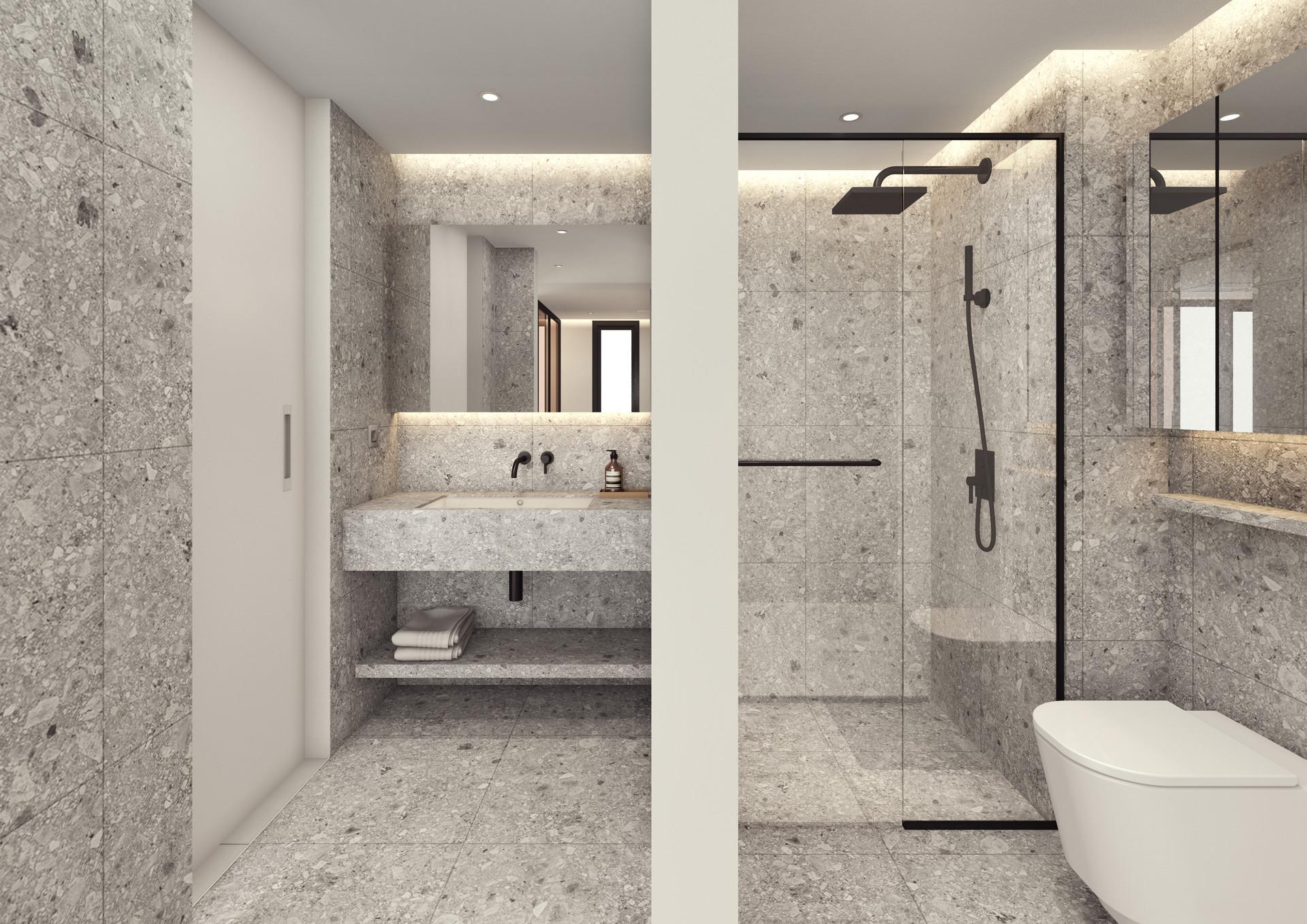 디자인 철학이 고스란히 담긴 슬로우밀리의 화장실 내부