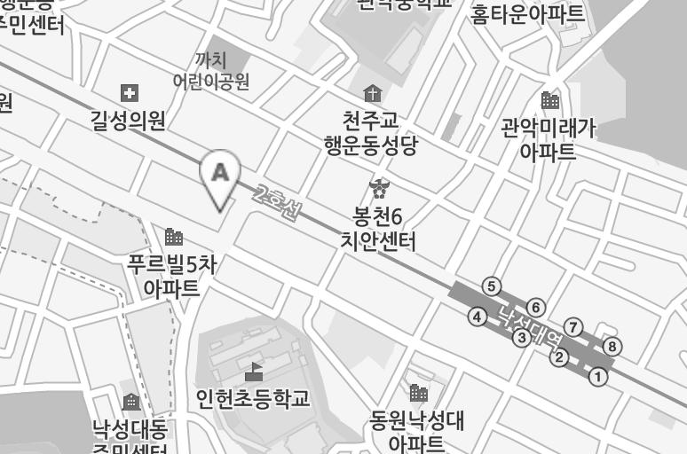 서울시 관악구 낙성대로2, 304호 (2호선 낙성대역 4번 출구 도보 3분)