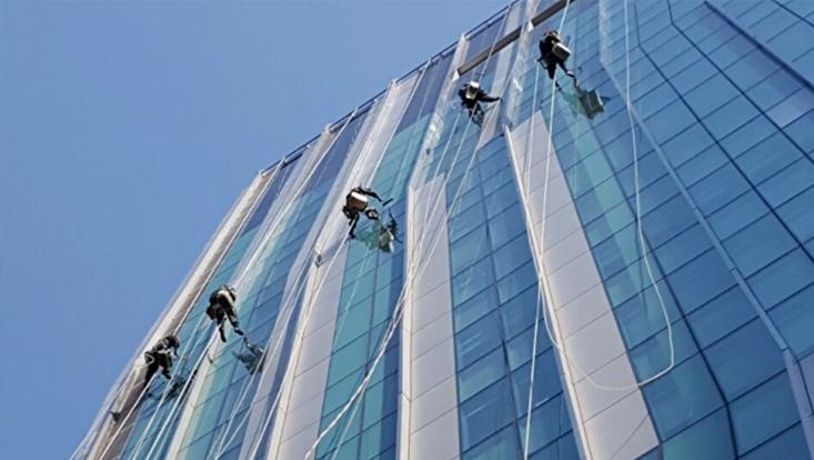 건물 윈도우 청소