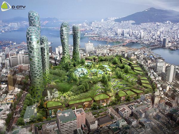 부산 용두산공원 도시재생사업