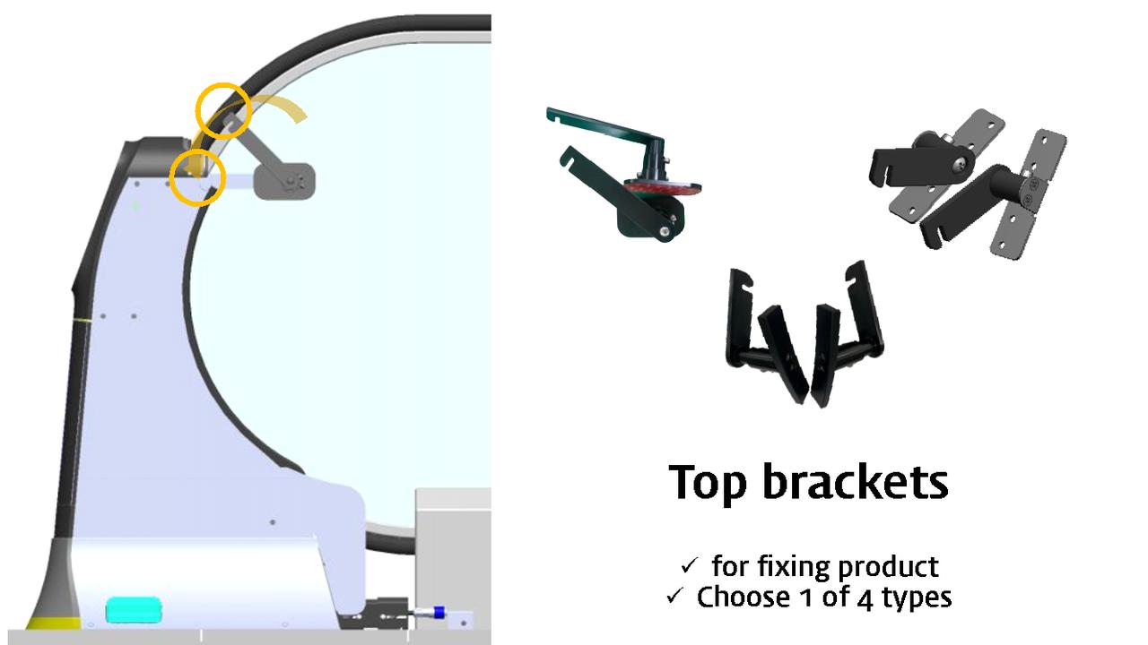 weclean install : top brackets