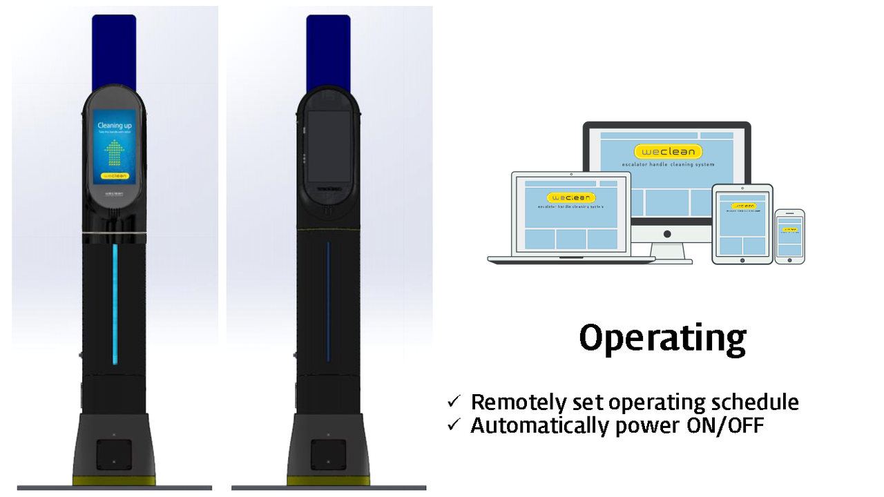 weclean remote & auto power