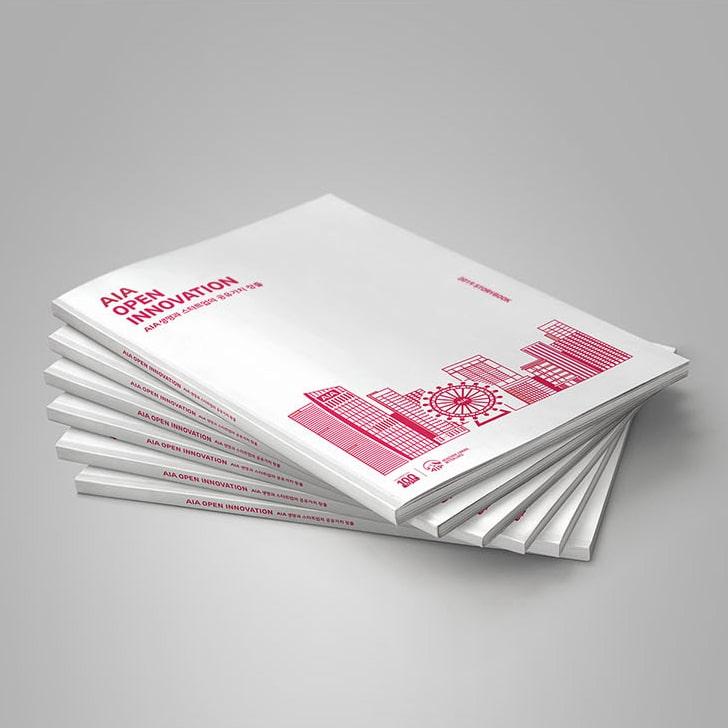 AIA 오픈이노베이션 멘토링북 디자인 시안 - 유엔파트너즈