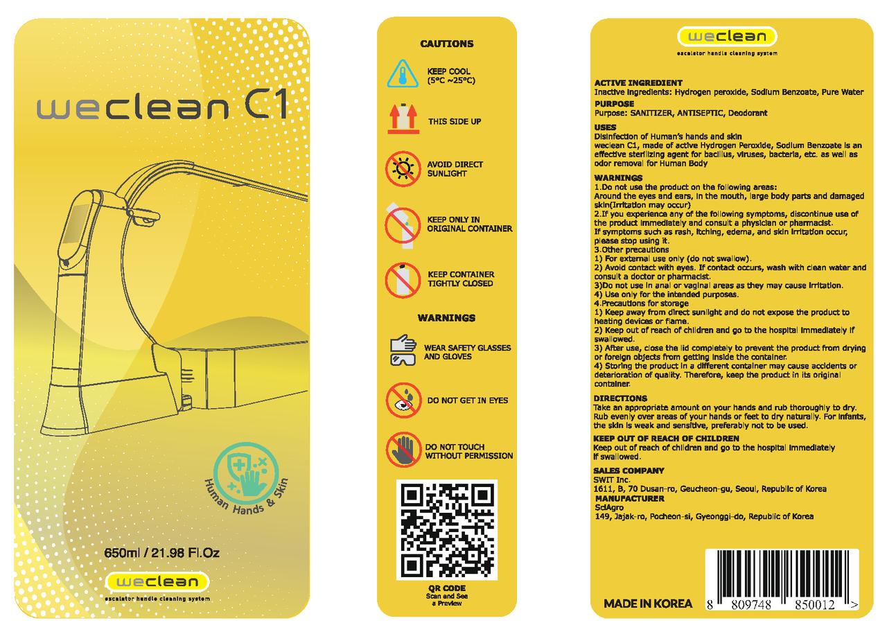 weclean disinfectant - c1