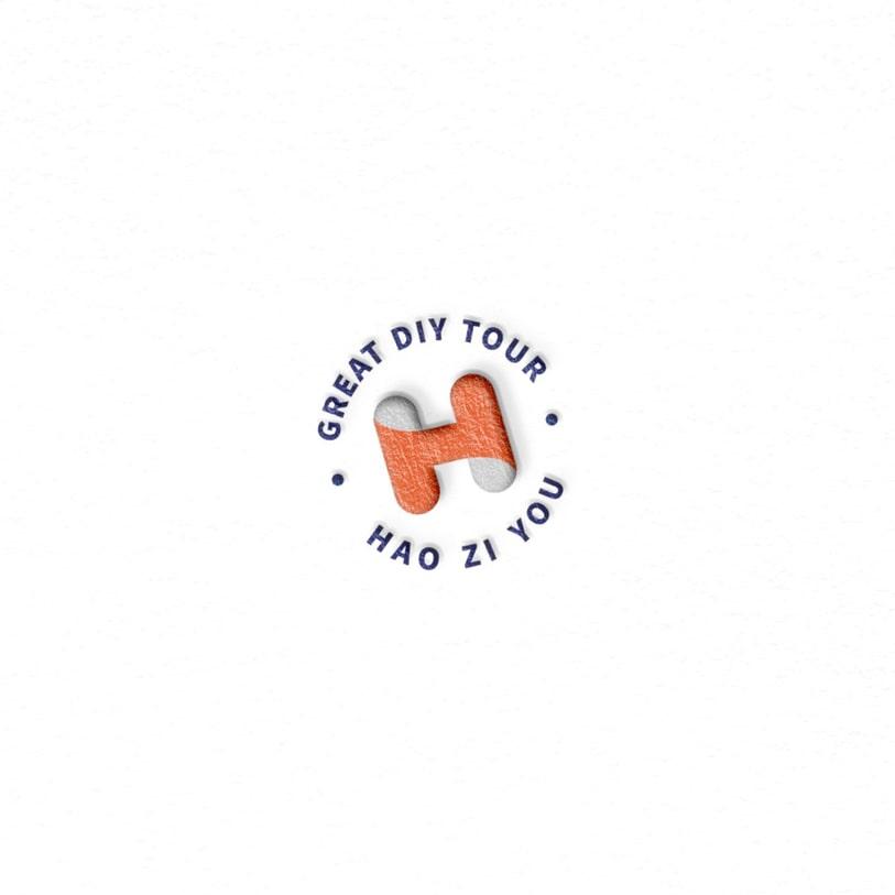 HAO ZI YOU 호자유 로고 디자인