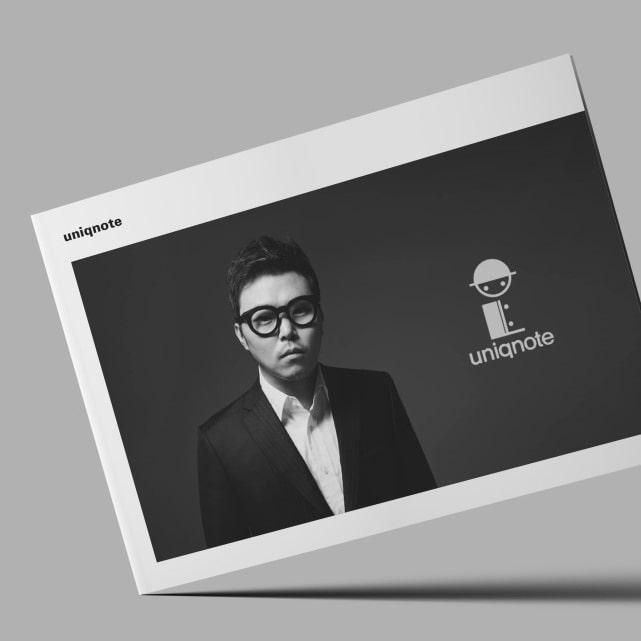 유니크노트 프로필/포트폴리오 디자인 시안 - 유니크노트
