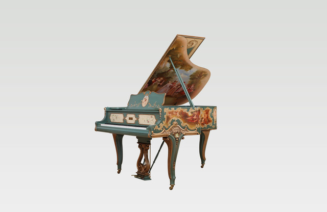 Knabe Neoclassical Style Custom Designed Parlor Grand Piano