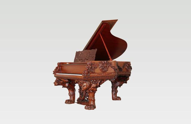 Antique Blasius & Sons Custom Carved Grand Piano