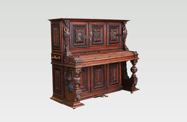 A. Dolge & Co. Gothic Medieval Upright Piano