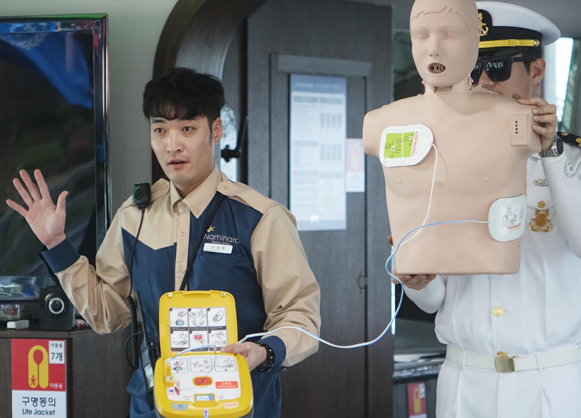 응급처치<br>심폐소생술, AED 사용법 등<br>10~15분