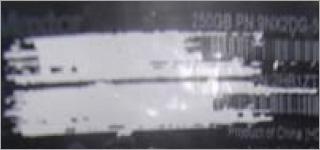 Erased external drive label