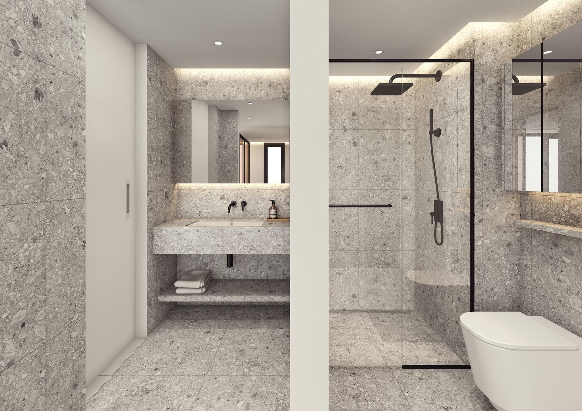 호텔식 분리형 화장실로 넓고 쾌적한 사용 경험