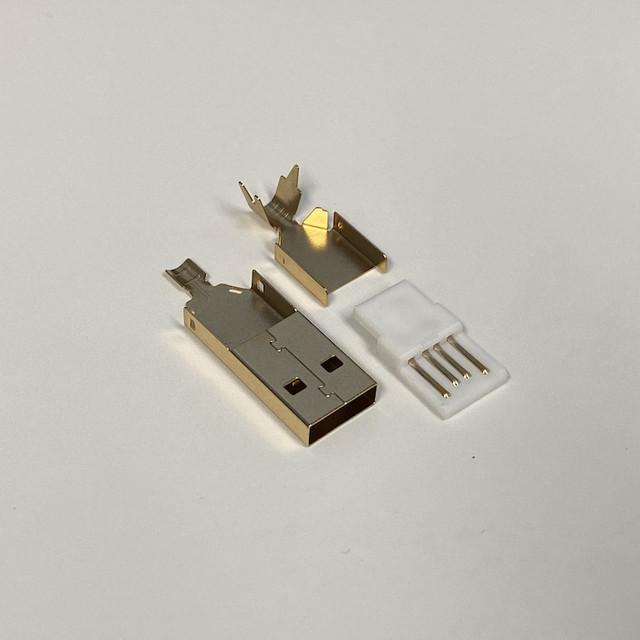 타이니그램 커스텀 케이블 - USB A 타입 골드 커넥터 (Tinygram Custom Cables - USB Type-A Gold Connector)
