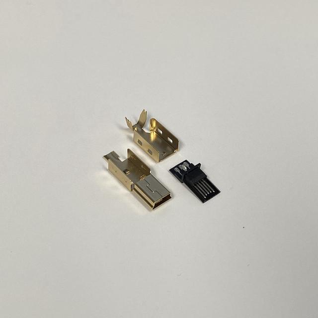 타이니그램 커스텀 케이블 - USB 미니-B 타입 골드 커넥터 (Tinygram Custom Cables - USB Mini-B Type Gold Connector)