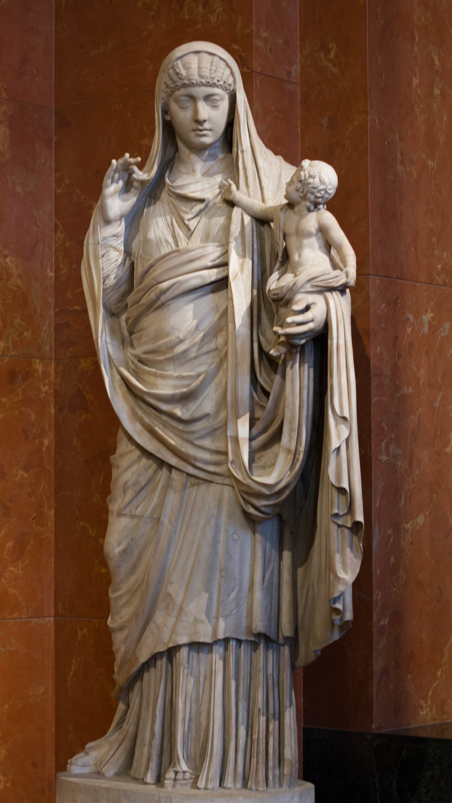 아들과 함께 있는 메살리아 (Louvre Museum)