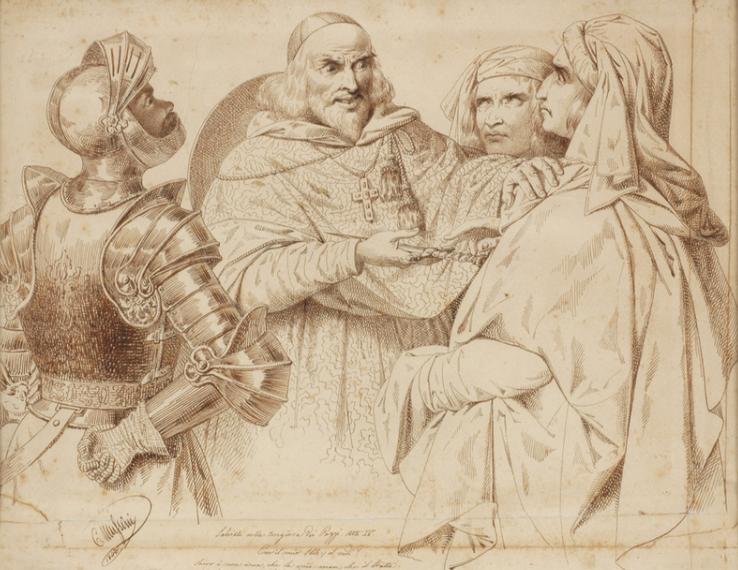 Cesare Mussini, Salviati alla congiura dei Pazzi