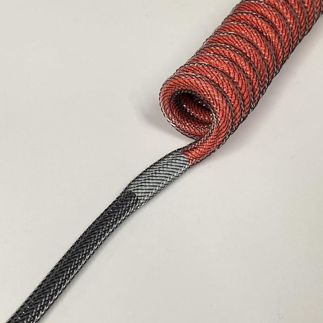 타이니그램 커스텀 케이블 - 파라코드 연결 튜빙 (Tinygram Custom Cables - Heatshrink on Two-tone Paracord)