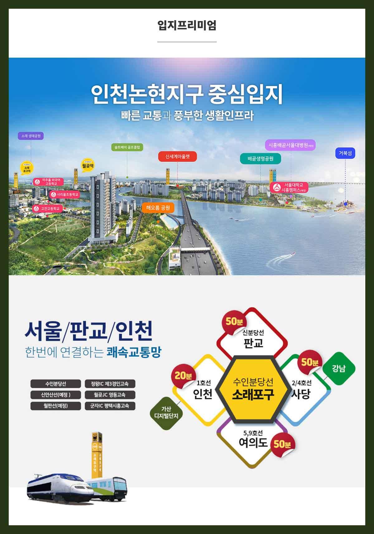 인천논현아리스타-입지프리미엄