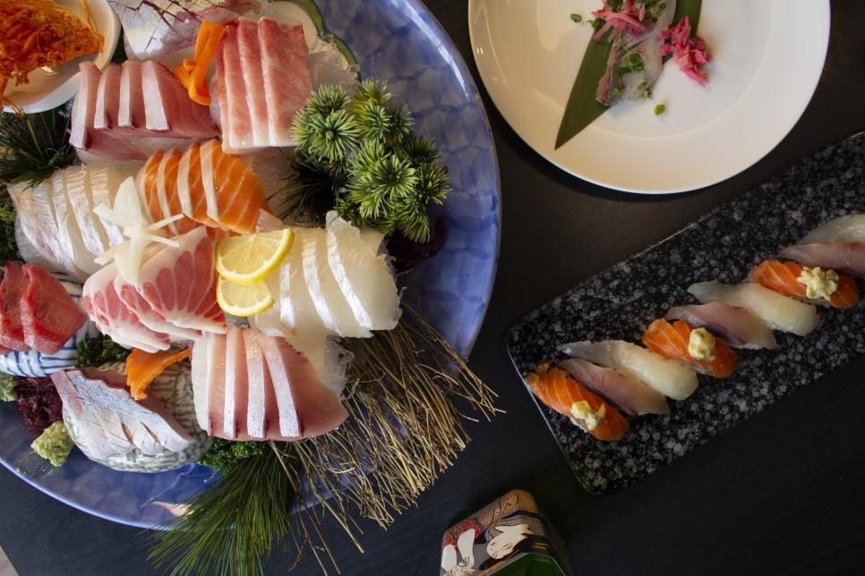 정통 갓포 요리가 일품인 도톤보리 회초밥