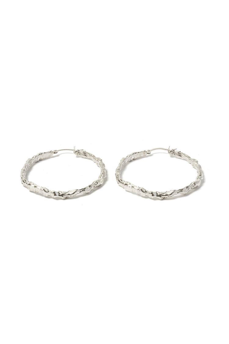 이스트인디고(EASTINDIGO) Elo hoop earrings Silver
