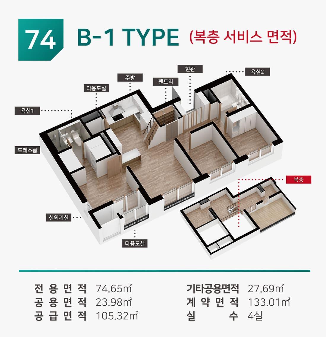 74B1(복층)
