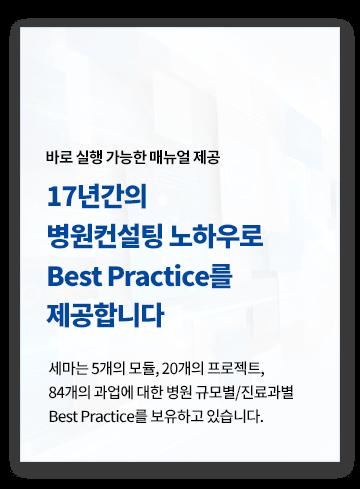 세마컨설팅 노하우, Best Practice