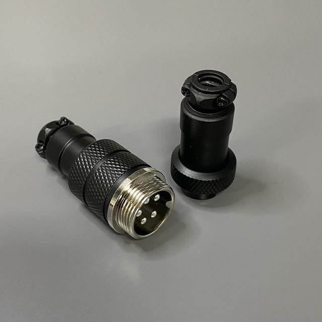 타이니그램 커스텀 케이블 - 항공 커넥터 GX16/5-pin / 매트 블랙 (Tinygram Custom Cables - Aviator Connector GX16/5-pin / Matte Black)