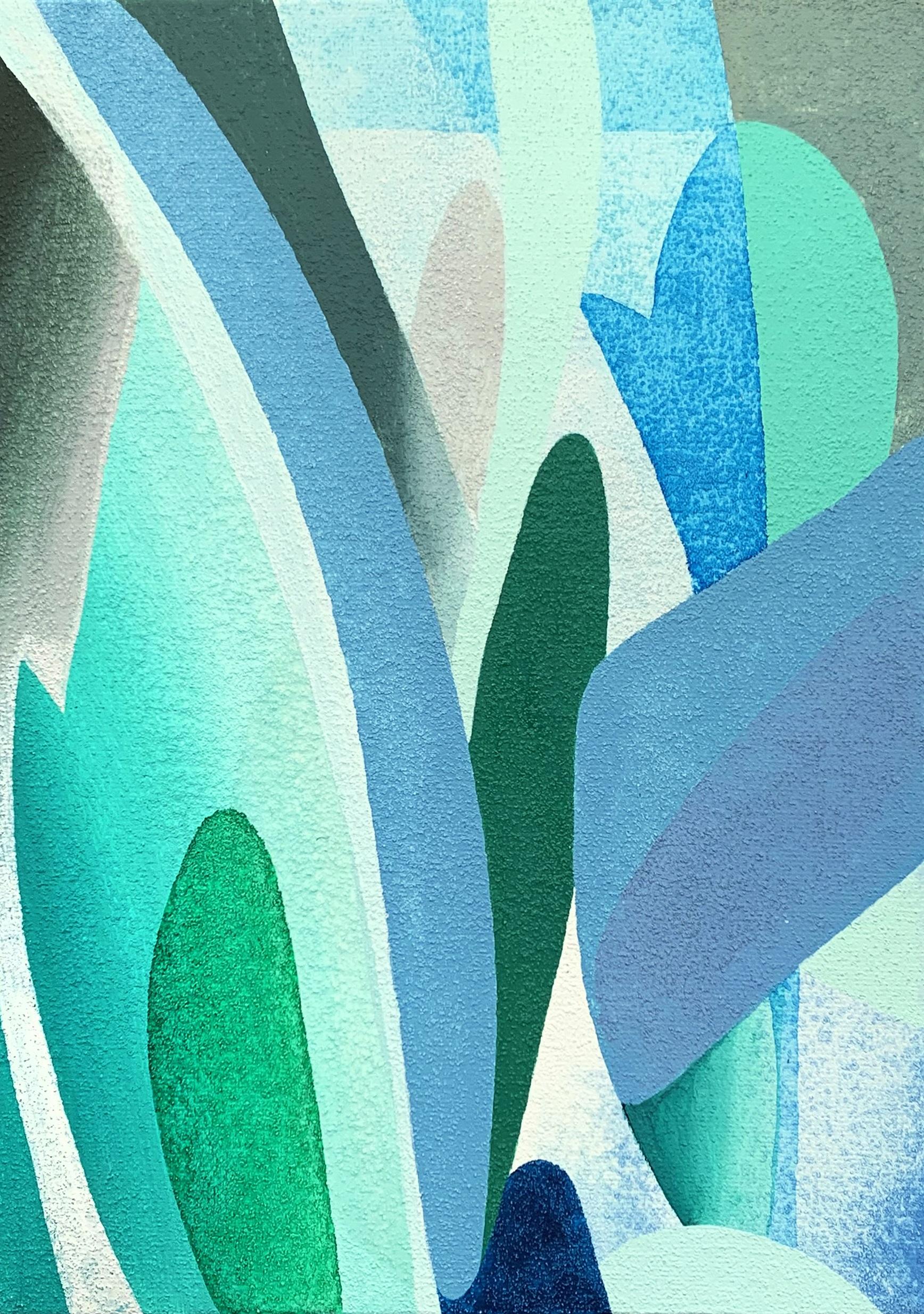 장예지,Farming series_35, acrylic on canvas, 27.3x19cm, 2018