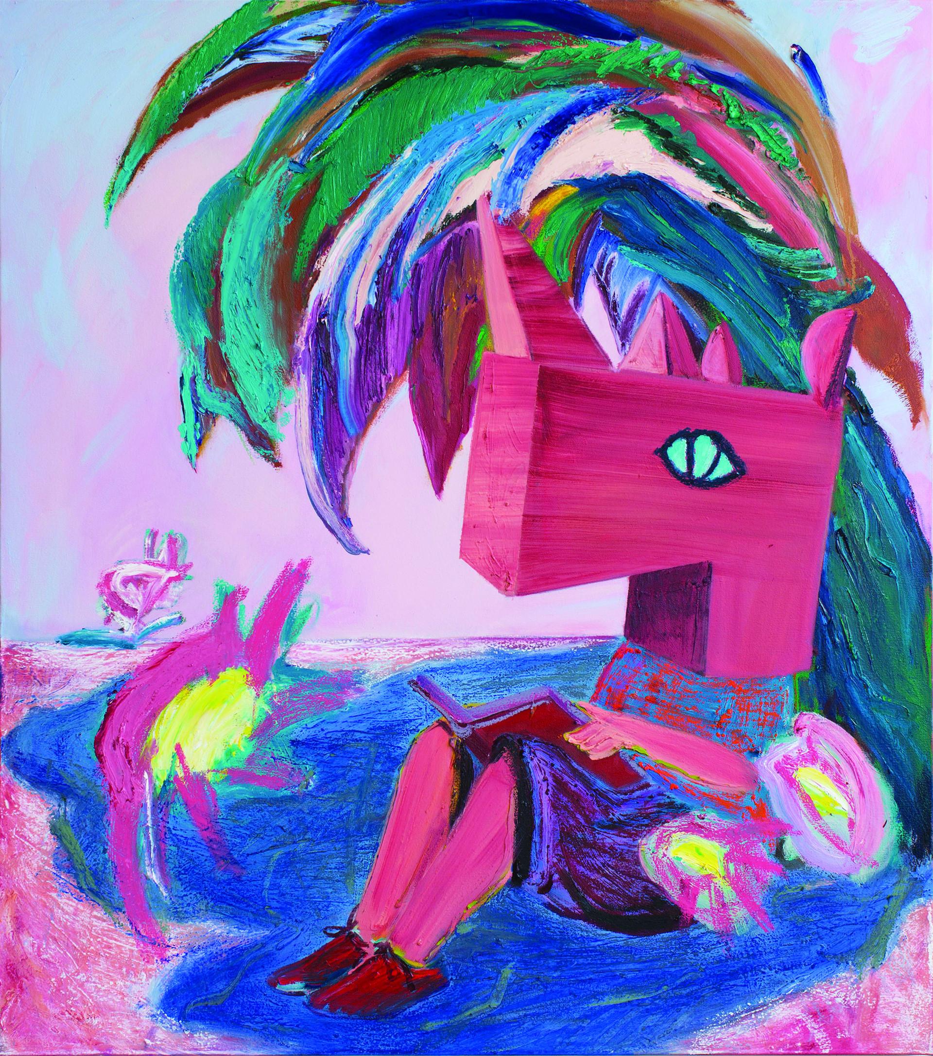 Candyfloss, Oil and acrylic on canvas, 120x100cm, 2021