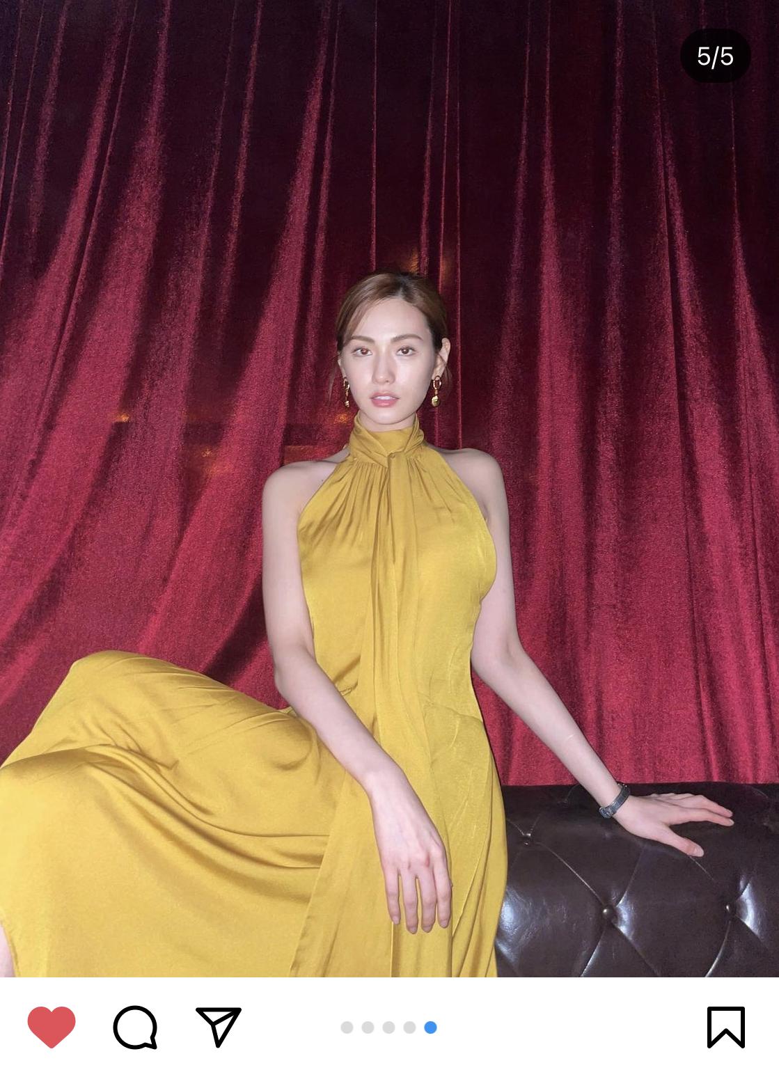 Nana Wearing E-2 Yellow Scarf Sleeveless Dress in Drama '오! 주인님'