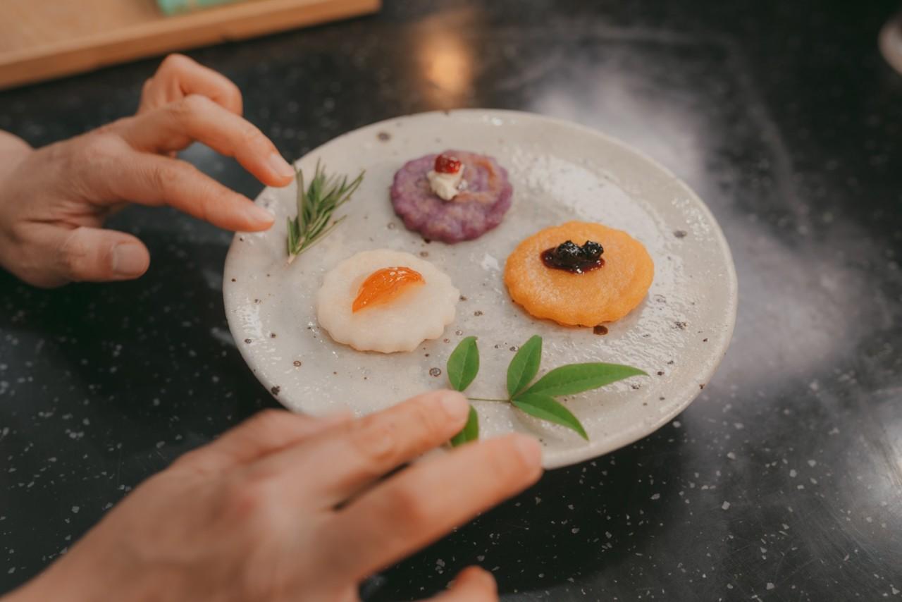 삼색지름떡 만들기 이미지