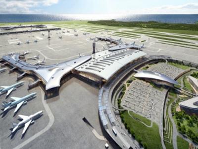 한진중공업 (인천공항 제2여객터미널 확장공사)<br>2021.3 ~ 2025.8