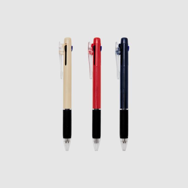 클립 3색 볼펜