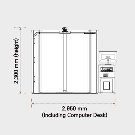 3D Body Scanner PFS-304. System dimension.