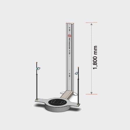 3D Body Scanner PFS-303 Torso. System dimension.