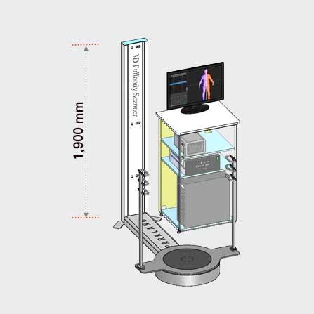 3D 바디스캐너 PFS-303 Apparel 시스템 제원