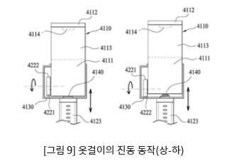 [그림 9] 옷걸이의 진동 동작(상-하)