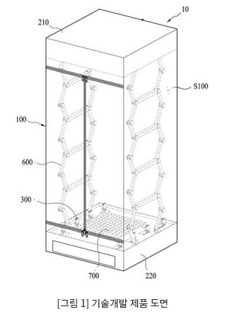 [그림 1] 기술개발 제품 도면