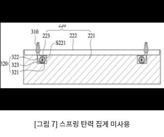 [그림 7] 스프링 탄력 집게 미사용