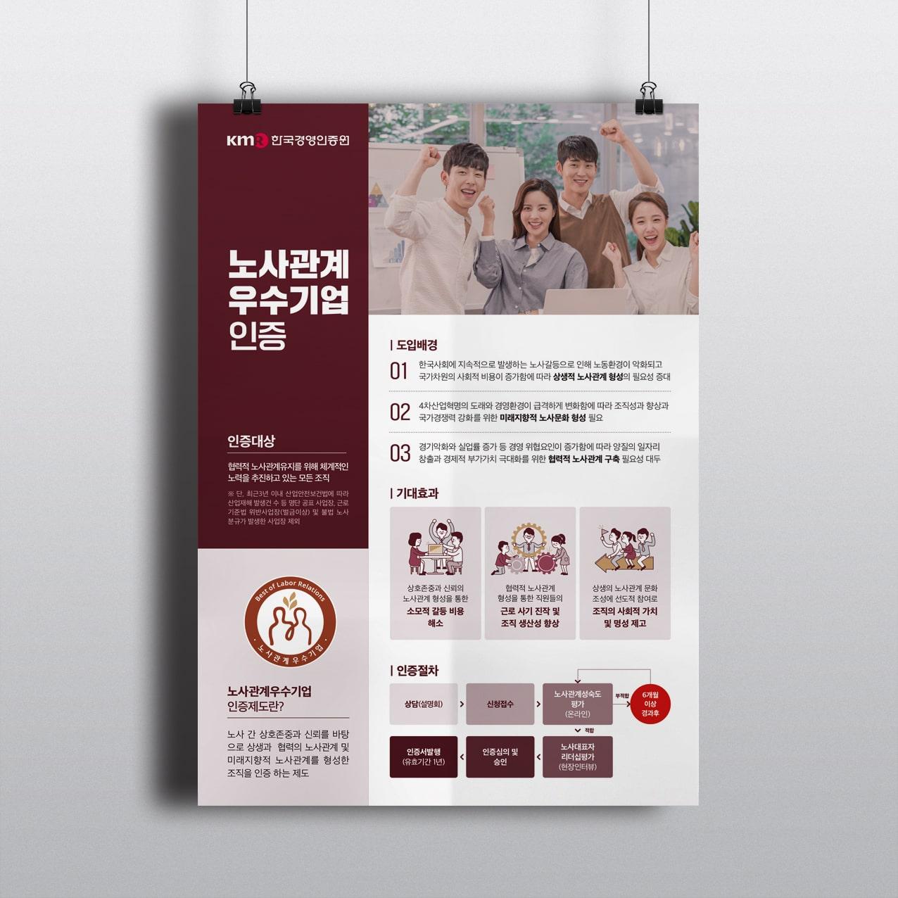 노사관계 우수기업 인증 - 한국경영인증원